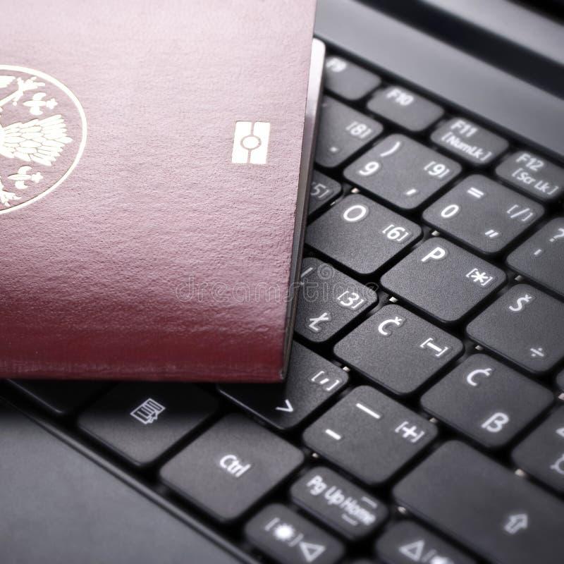 Online het boeken stock afbeelding