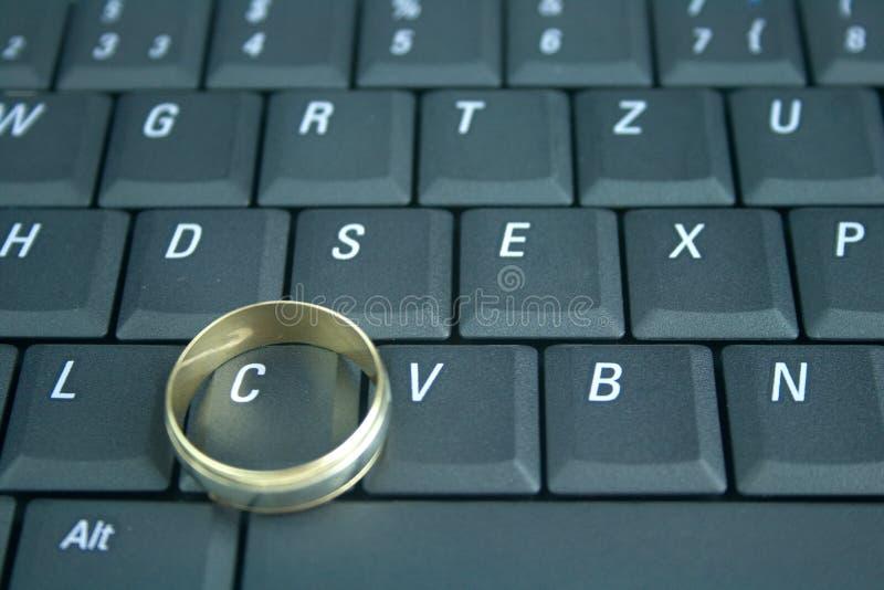 Online het dateren en het bedriegen royalty-vrije stock foto's