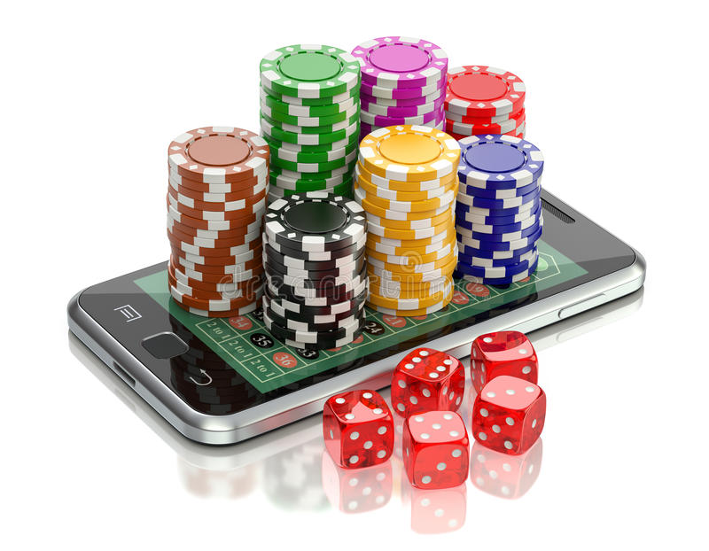 Online het gokken concept vector illustratie