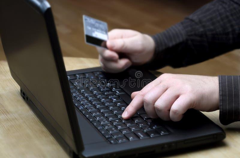 Online het kopen royalty-vrije stock afbeelding
