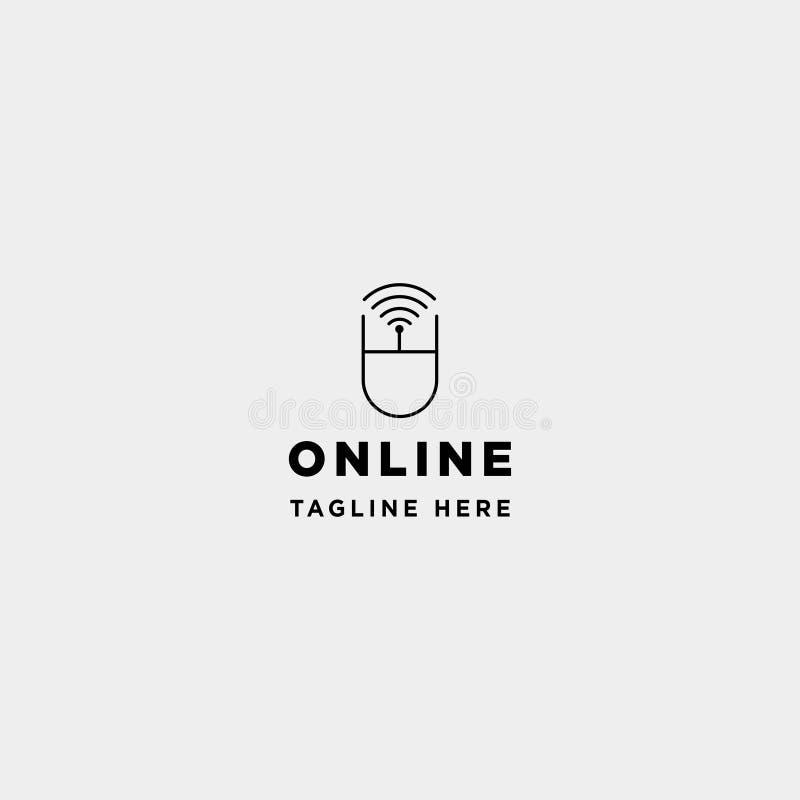 online het leren van het ontwerp vectorinternet van het cursusembleem symboolteken royalty-vrije illustratie