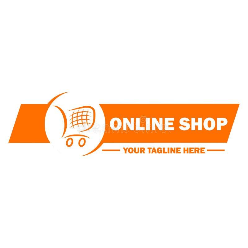 Online het malplaatjeontwerp van het winkelembleem vector illustratie