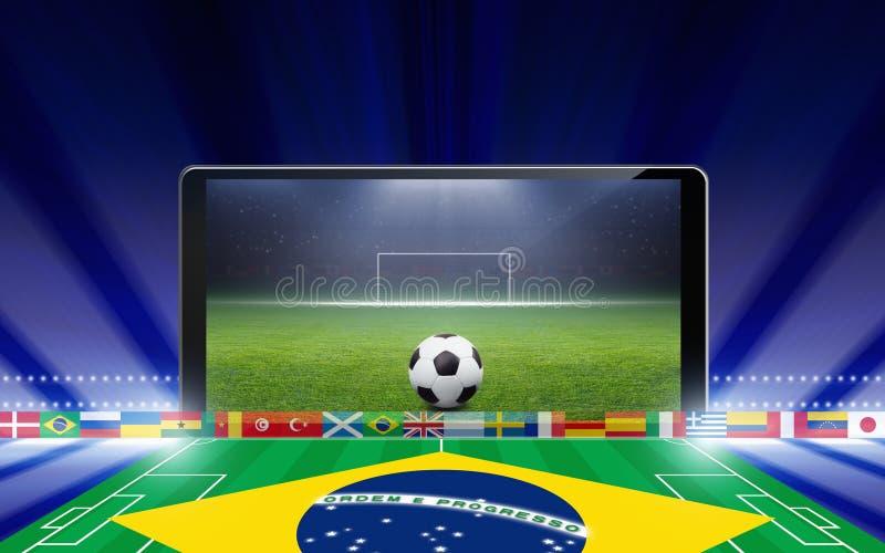 Online het voetbal van Brazilië vector illustratie