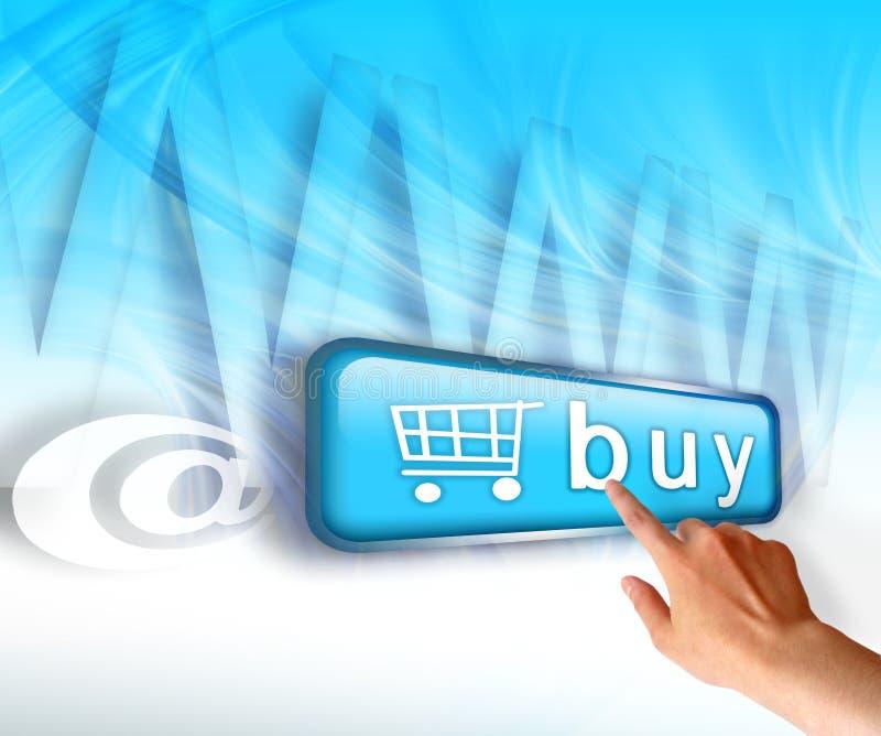 Online het winkelen stock afbeeldingen