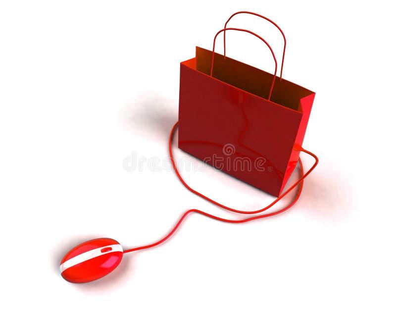 Online het winkelen stock illustratie