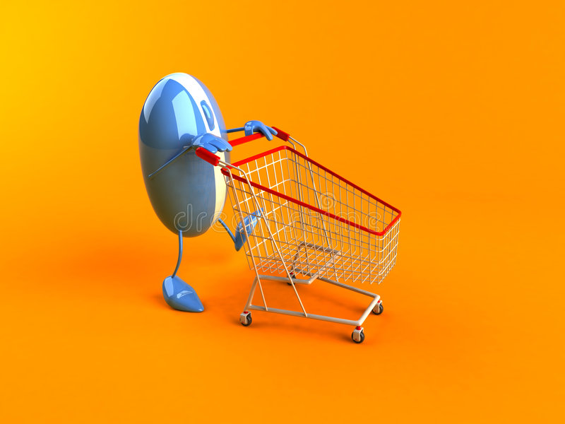 Online het winkelen vector illustratie