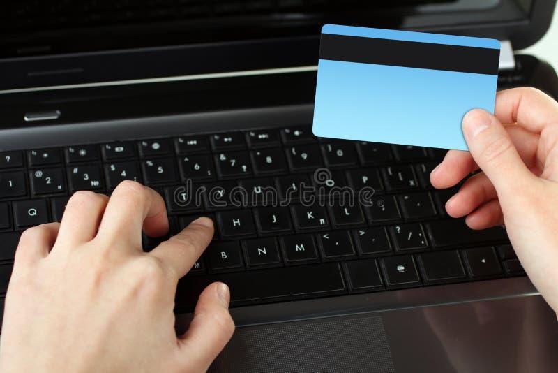 Online het winkelen royalty-vrije stock afbeelding