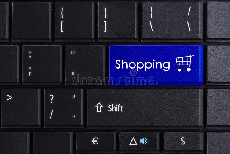 Online het winkelen stock foto's