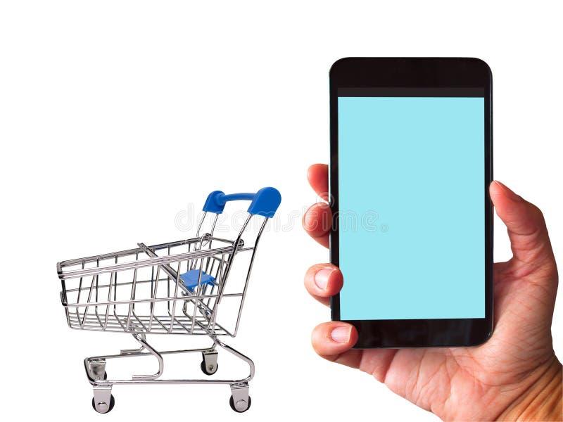 Online het winkelen concept stock fotografie