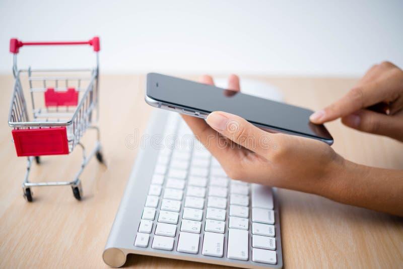 Online het winkelen concept royalty-vrije stock foto's