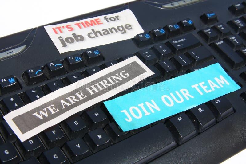 Online het zoeken naar banen stock foto
