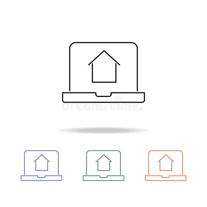 Online house shopping icon. Elements of real estate in multi colored icons. Premium quality graphic design icon. Simple icon for vector illustration