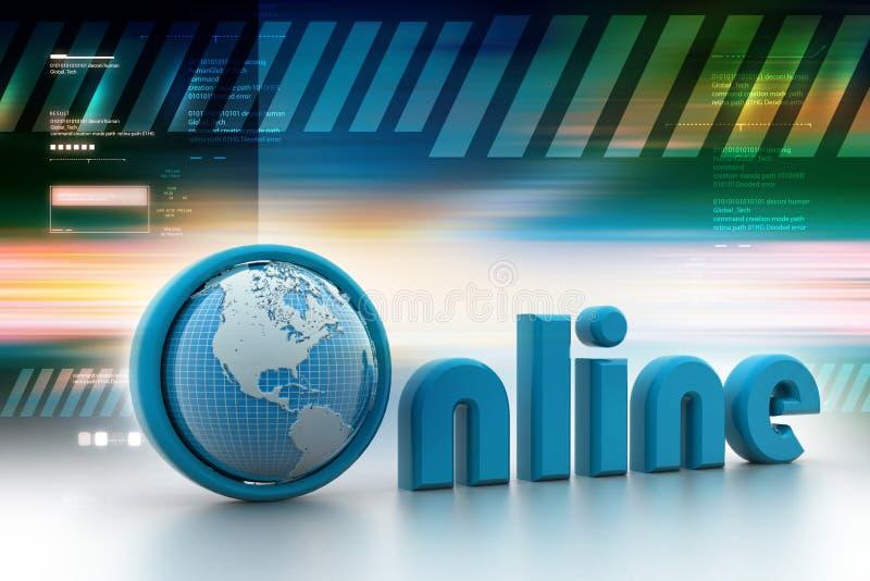 Online illustratie met bol vector illustratie