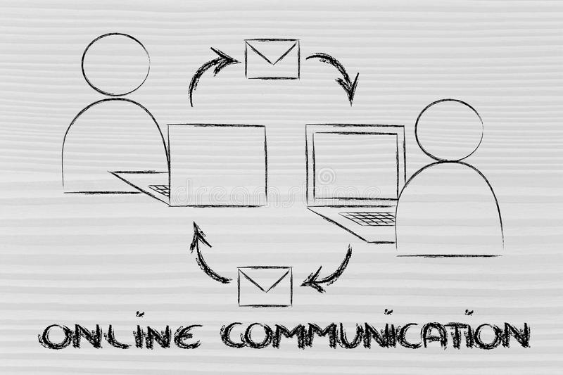 Download Online Internet Based Communication Royalty Free Stock Photography - Image: 36954287