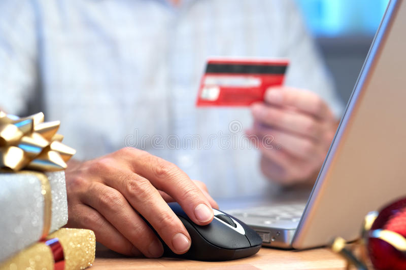 Online Internet Christmas Shopping Concept Royalty Free Stock Photography