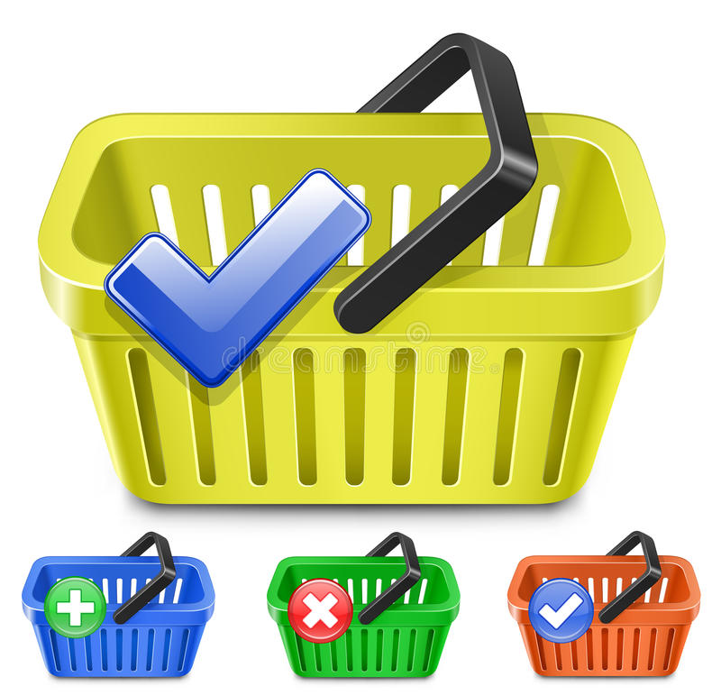 Online Internet Store Shopping Carts Stock Images