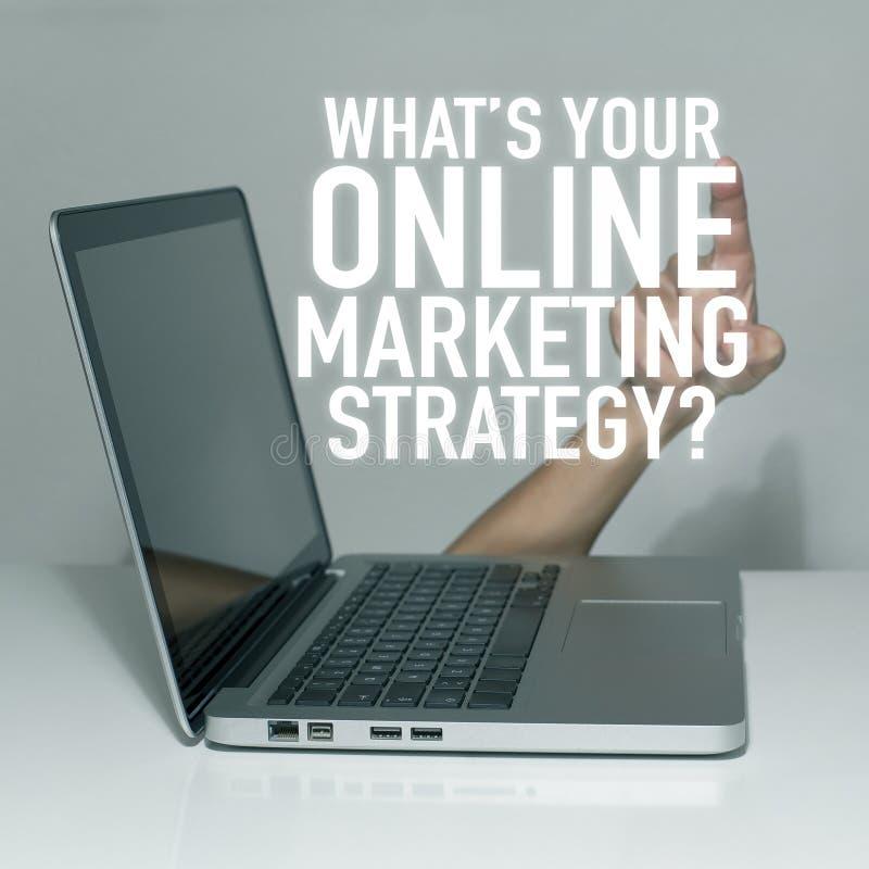 Online-internetmarknadsföring arkivbild