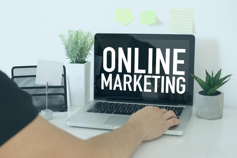 Online Internetowy marketing obraz royalty free
