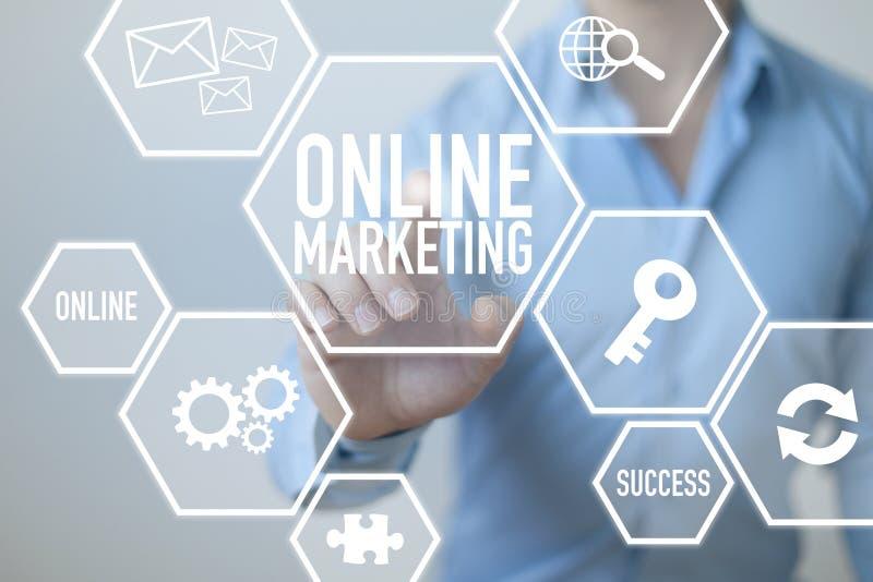 Online Internetowy marketing zdjęcia royalty free