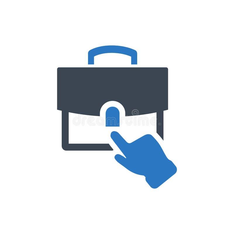 Online job apply icon vector illustration