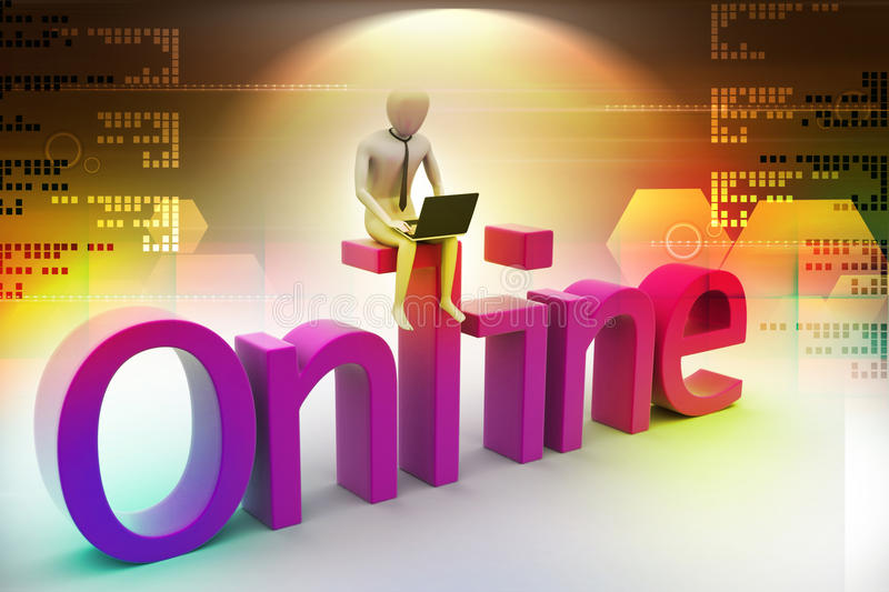 Online job concept stock illustration