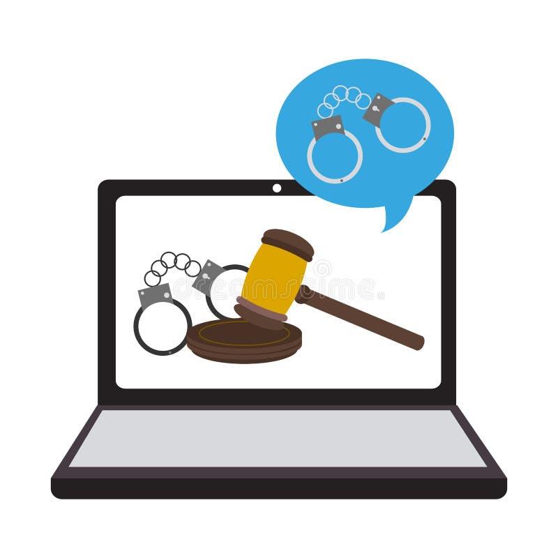 Online juridisch advies stock illustratie