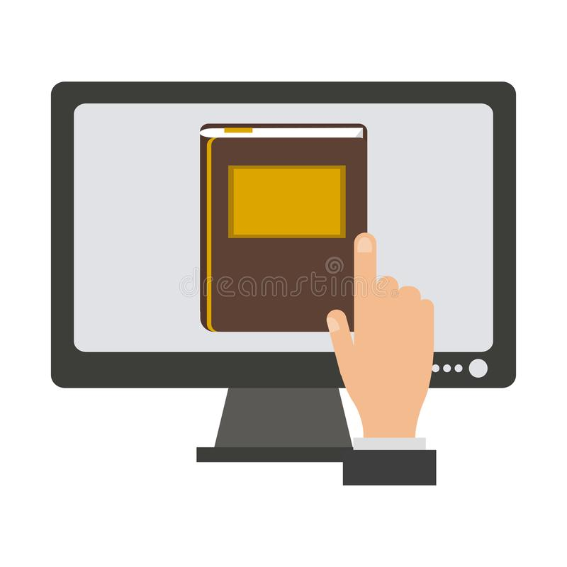 Online juridisch advies vector illustratie