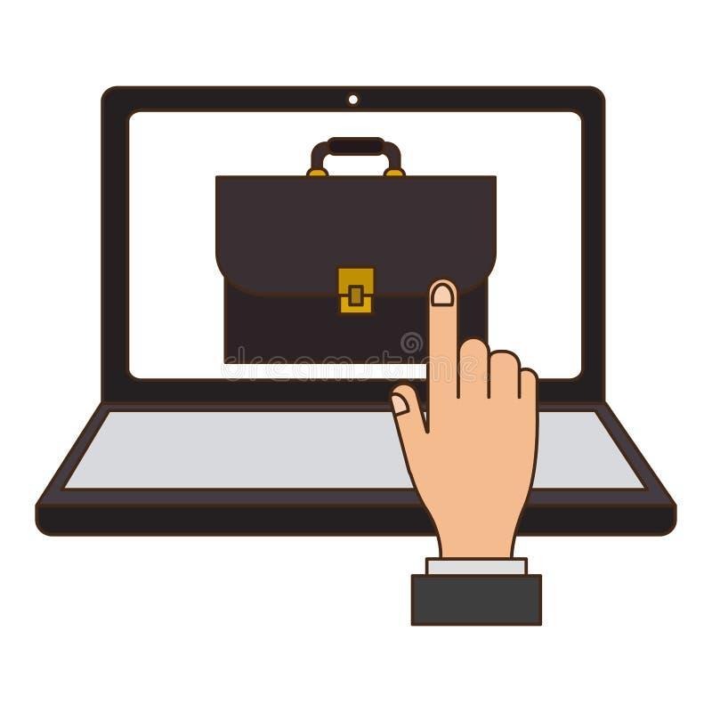 Online juridisch advies royalty-vrije illustratie