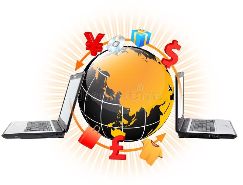 online-köp royaltyfri illustrationer