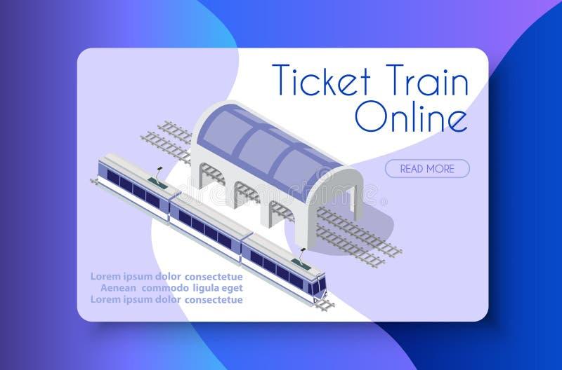 Online kaartjestrein stock illustratie