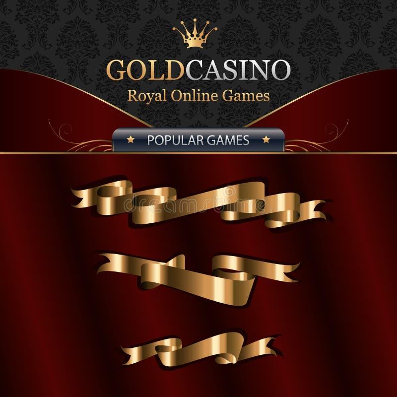 Online-kasinomallelement med band royaltyfri illustrationer