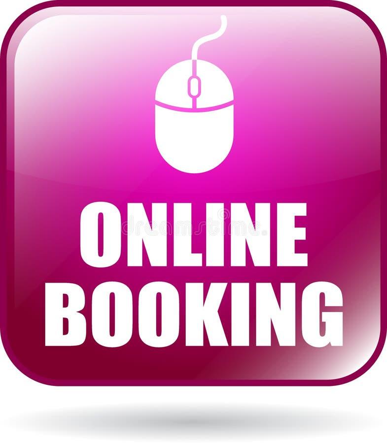 Online-knapp för bokningsymbolsrengöringsduk stock illustrationer