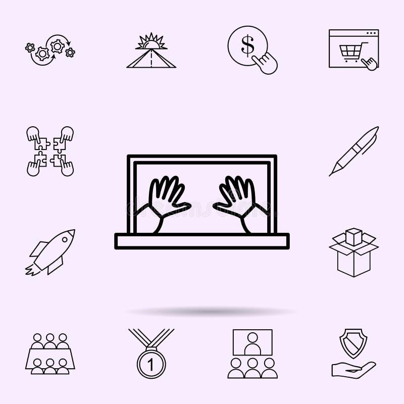 online-kontrollsymbol Universell upps?ttning av reng?ringsdukblandningen f?r websitedesignen och utveckling, apputveckling royaltyfri illustrationer