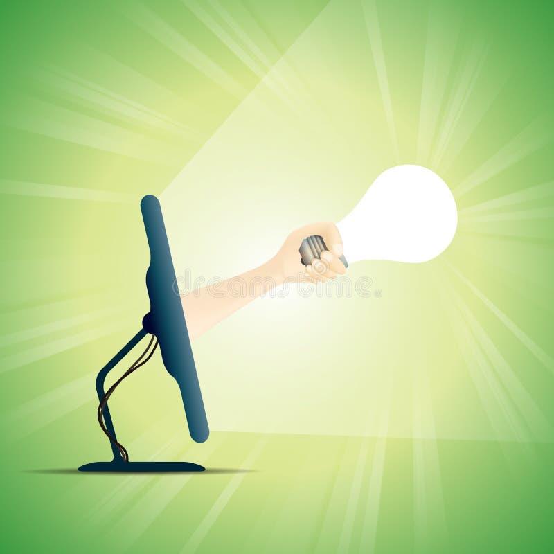 Online-kreativitet stock illustrationer