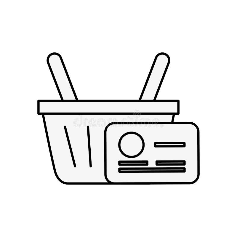 Online-kreditkortlast för shoppa korg stock illustrationer