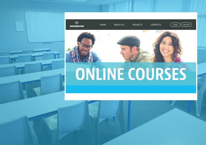Online-kursApp-manöverenhet royaltyfria foton