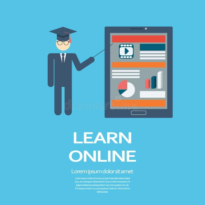 Online-lärande infographic mall för utbildning stock illustrationer
