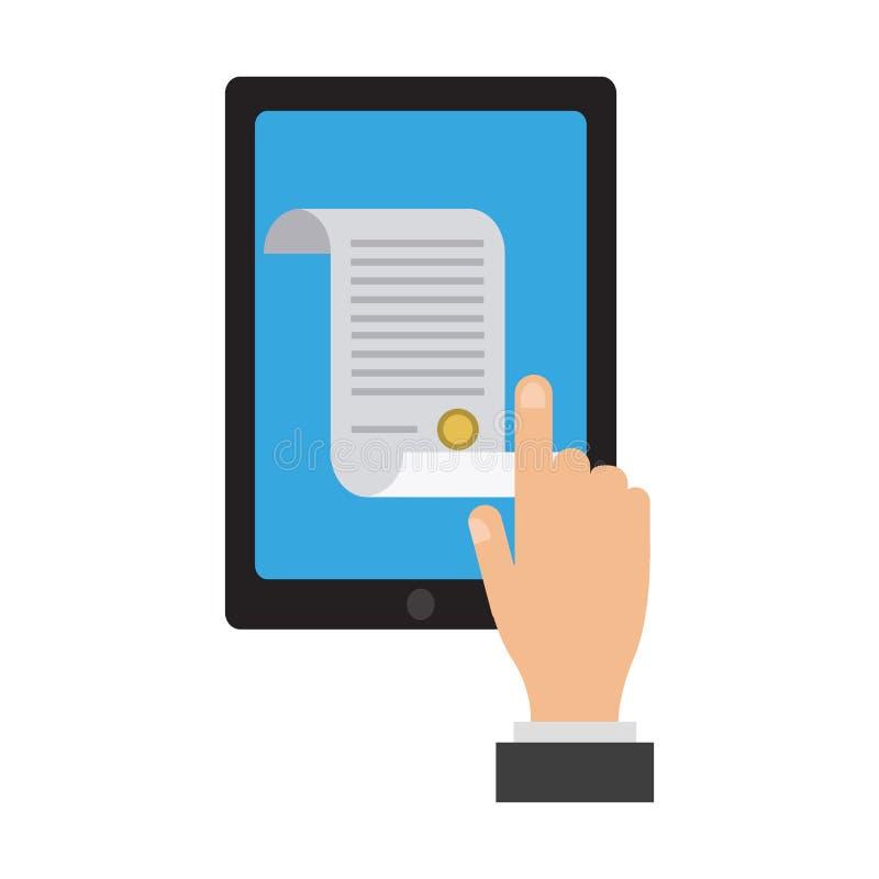 Online-laglig rådgivning stock illustrationer
