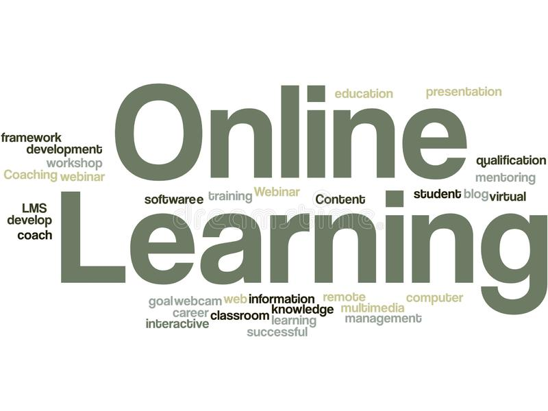 Online Learning word cloud vector illustration