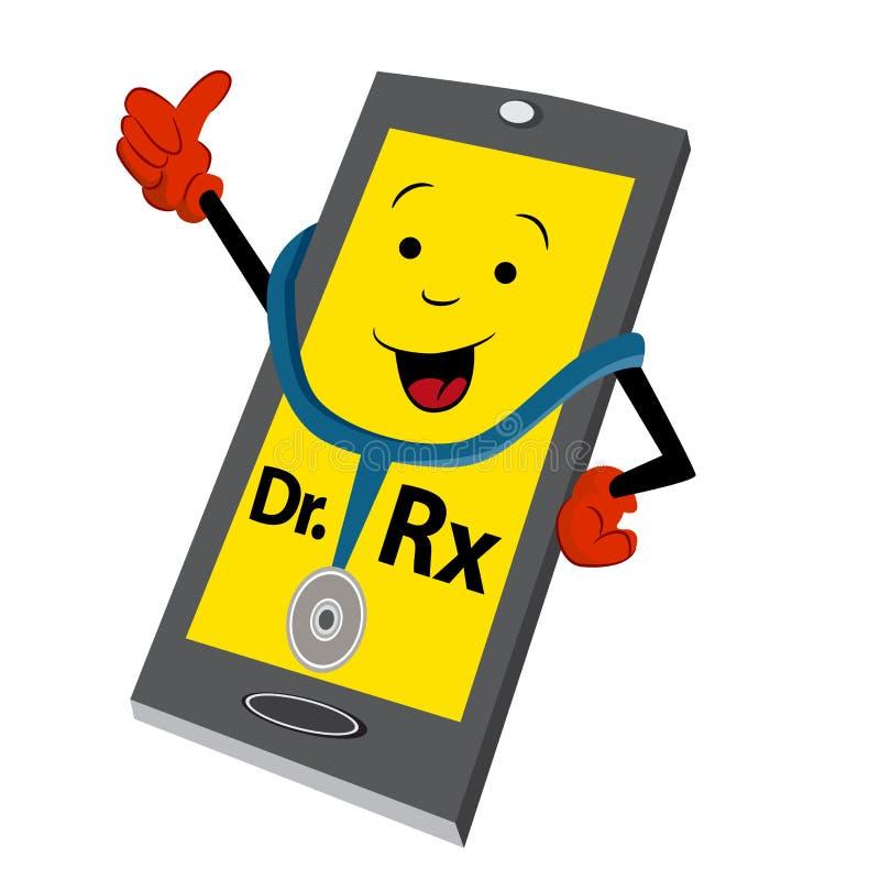Online lekarki usługa ikona royalty ilustracja