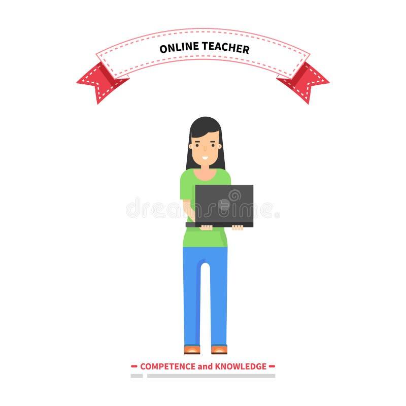 Online Leraar Competence en Kennis stock illustratie
