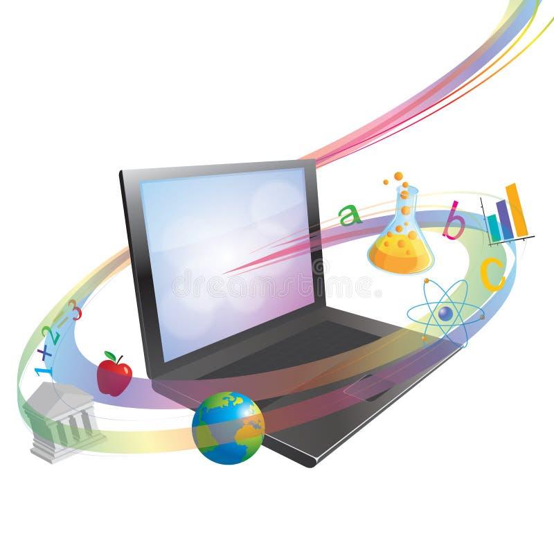 Online Lerend of het Scholen Concept vector illustratie