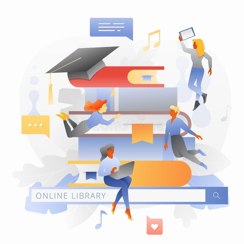 Scholarship And Library Futuristic Icon Stock Illustration