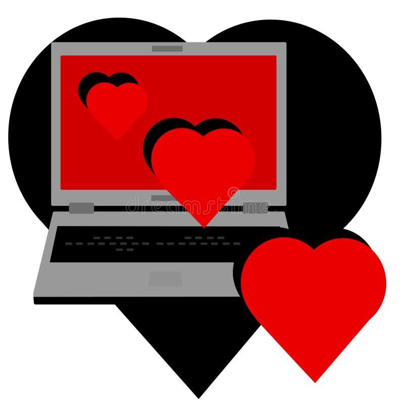 Online liefde royalty-vrije illustratie