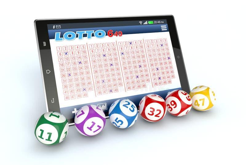 Online loterij vector illustratie