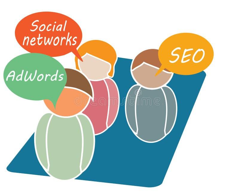 Online marketing royalty ilustracja