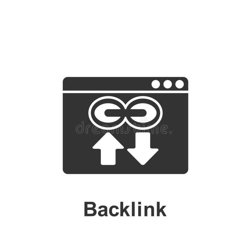 Online marketing, backlink icon. Element of online marketing icon. Premium quality graphic design icon. Signs and symbols. Collection icon for websites, web stock illustration