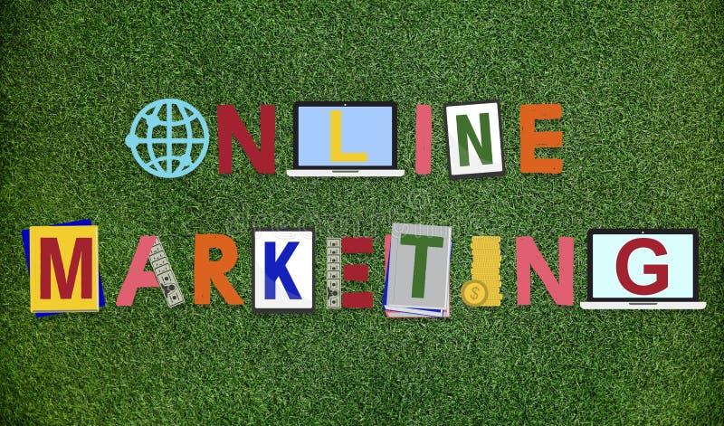 Online Marketing Grafiekword Ontwerpconcept royalty-vrije stock fotografie