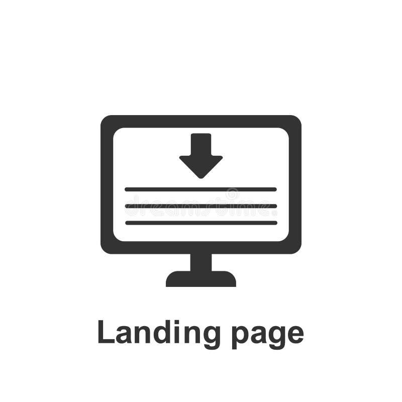 Online marketing, l?duje strony ikon? Element online marketingowa ikona Premii ilo?ci graficznego projekta ikona podpisz symboli royalty ilustracja