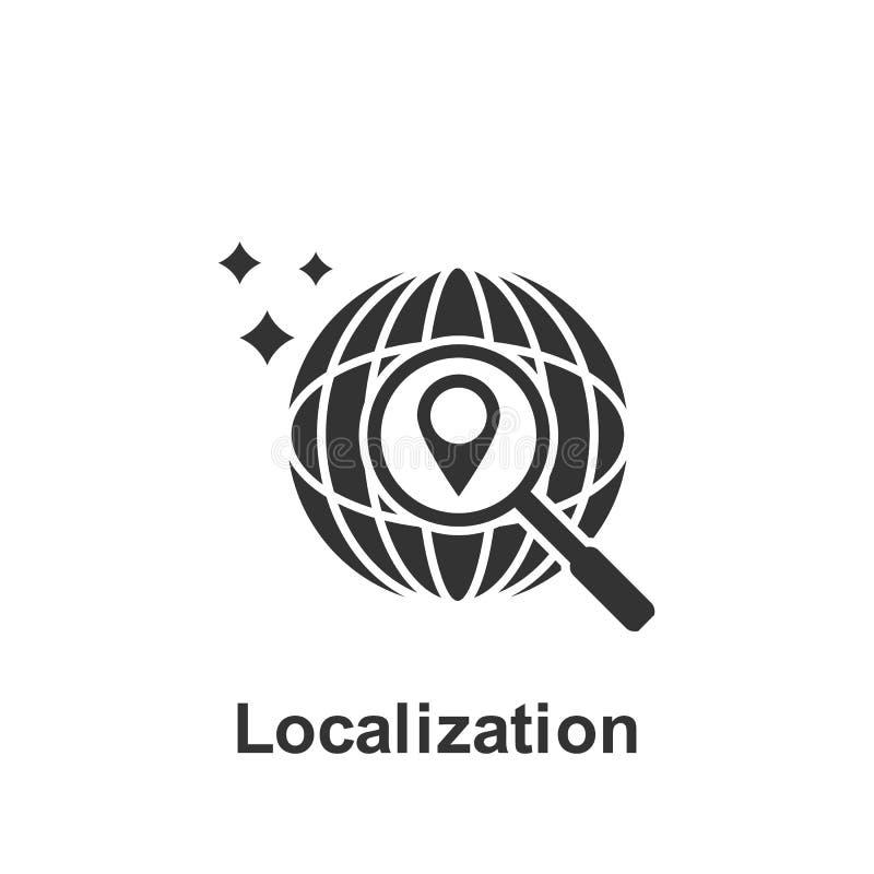 Online marketing, localization icon. Element of online marketing icon. Premium quality graphic design icon. Signs and symbols stock illustration